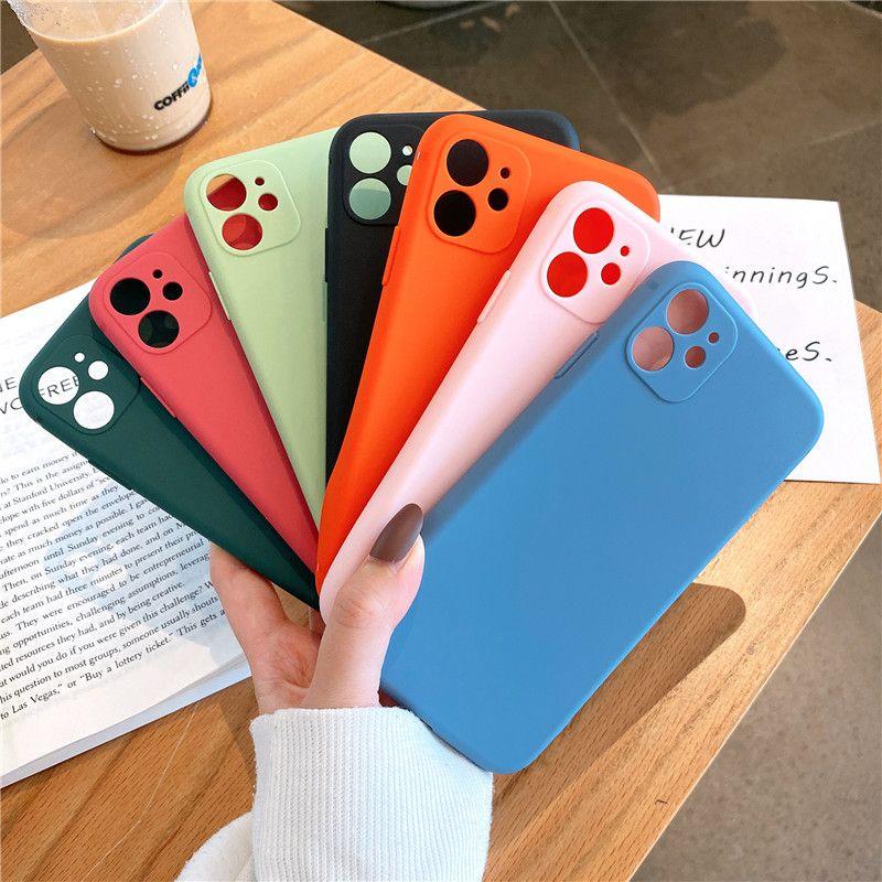 Cassa del telefono per IPhone 11 Pro X XR XS Max 7 8 più di lusso Telaio multi colore Matte protettiva in silicone TPU per IPhone vendita della fabbrica