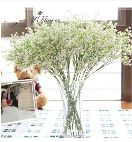 100PCS 58cm Rustic artificial flower interspersion mantianxing decor for home table wedding flower plastic Gypsophila babysbreath