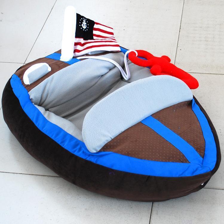 Fresco a forma di barca Pet bello divano-letto Casa High-end caldo Yacht Teddy Nest personalizzata lettiera Dog Bed impermeabile Dog