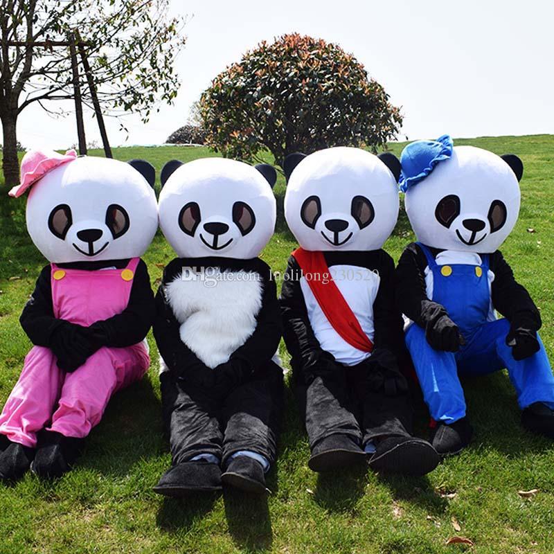 Nouvelle vente Halloween Panda costume de mascotte costumes ours fête d'anniversaire Animation de Noël