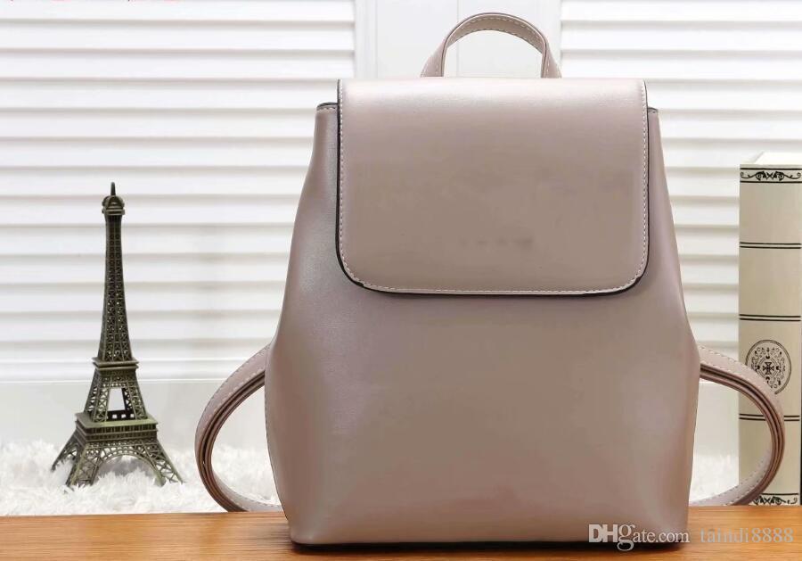 Venta al por mayor de alta calidad de las mujeres mochilas de diseño de gran capacidad bolsas de viaje de moda bolsos de estilo clásico cuero genuino top qualty