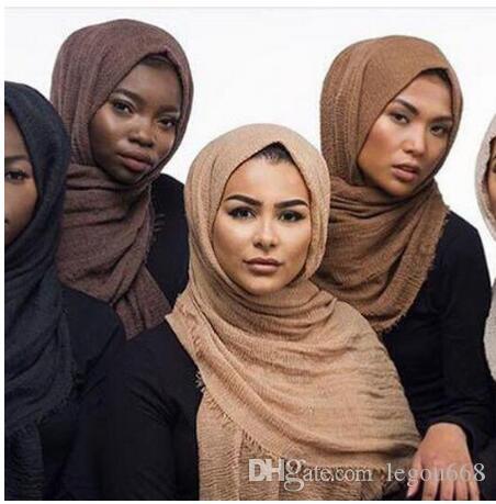 bubble plain scarf/cotton scarf fringes women soft solid hijab popular muffler shawls big pashmina wrap hijab scarves 55 colors GB1334