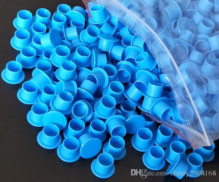 Nouvelle arrivée bleu grande encre tasses casquettes fournitures de tatouage pour machine de tatouage Kits iNK 1000pcs