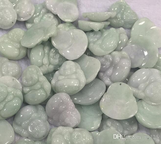 Nouveau gros Myanmar naturel Emerald Une marchandises Guanyin Bouddha Maitreya Bouddha Pendentif