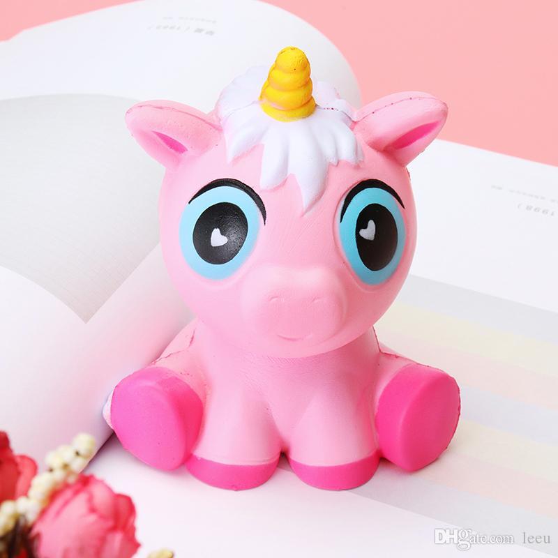 Squishy unicórnios 15cm jumbo lento aumento do cavalo macio oversize telefone esprema brinquedos pingente anti estresse garoto desenhos animados brinquedo descompressivo brinquedo