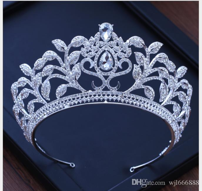 Tocado hoja Cristal Diamante Corona Accesorios de boda Vestido de novia Banquete Decoración