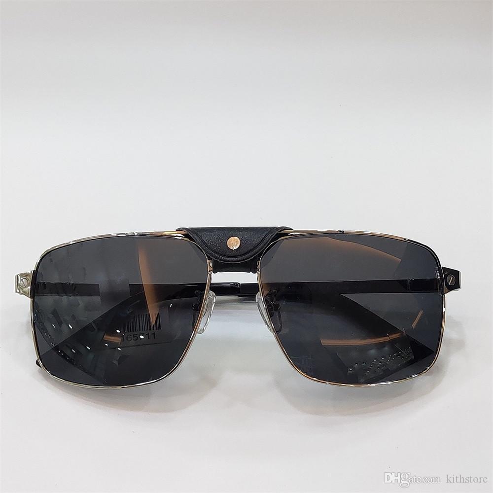 2020 nova moda prepúcio óculos de sol de couro feixe feminina óculos de sol Men ins Popular UV