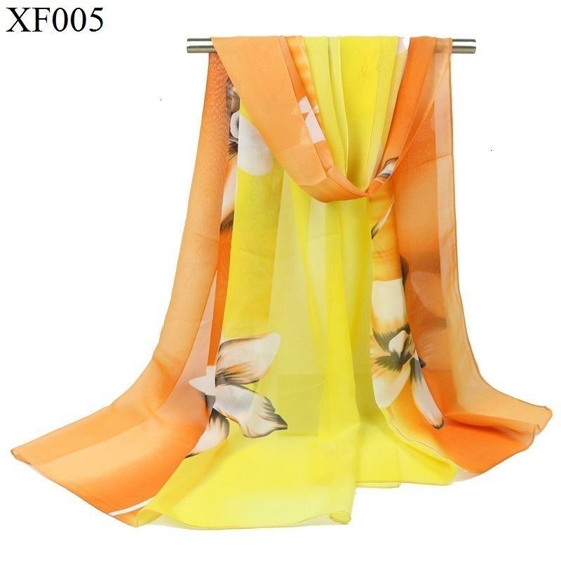 La bufanda de seda del lirio Will impresión de la flor gradual cambio de color de la bufanda de seda señora Accesorios Reunión Anual de la bufanda regalo Taobao GiftNew manera caliente