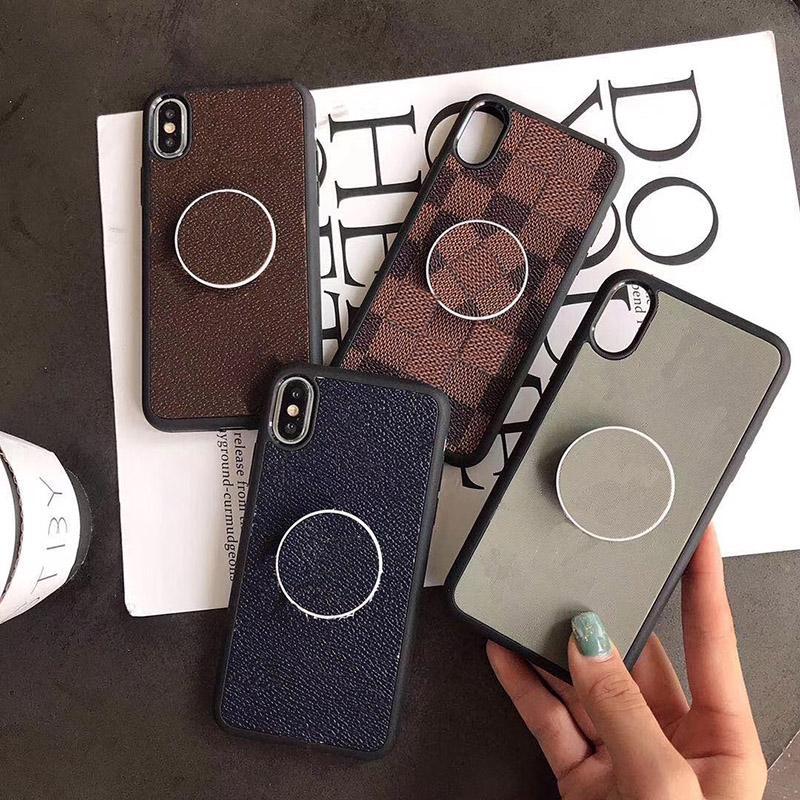 De luxe de cas de téléphone pour IPhone X XR 6 7 8Plus 11 Pro Classic PU cuir couverture arrière pour Samsung Galaxy Note 10 S8
