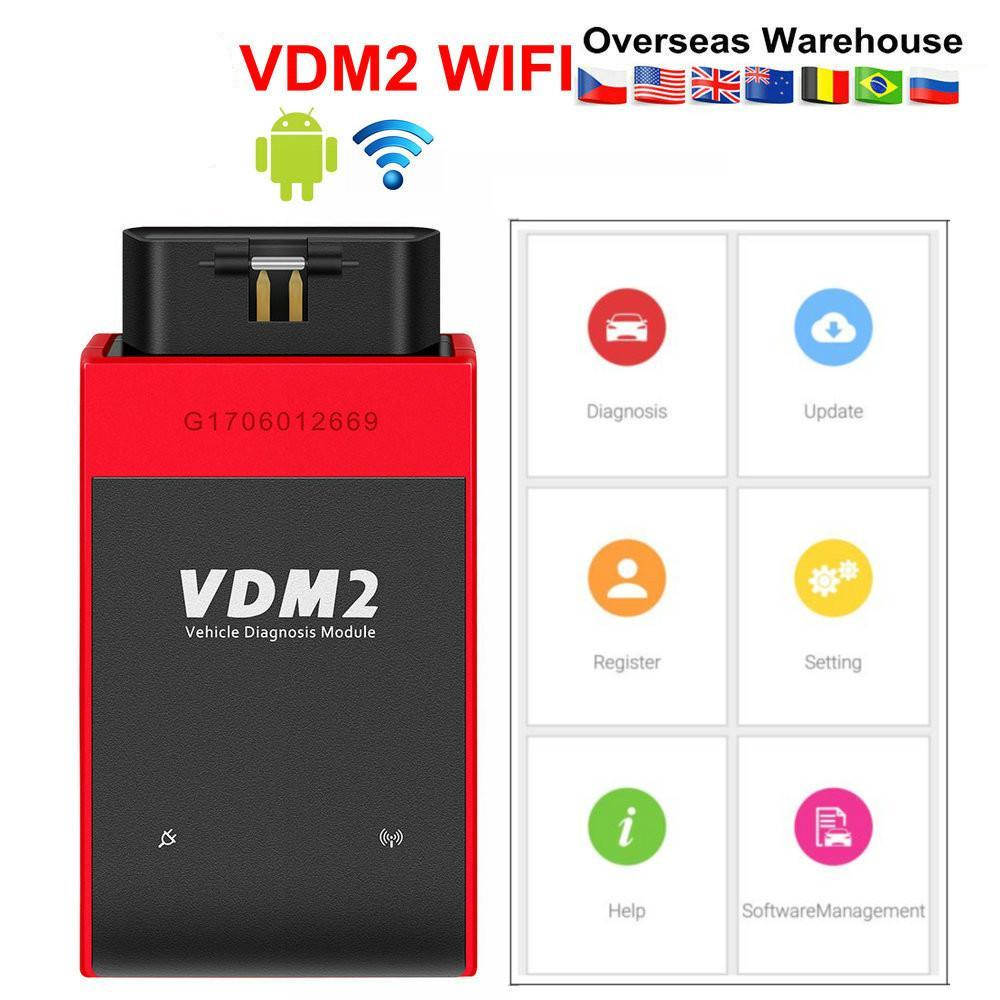 El explorador automotor UCANDAS VDM2 VDM II UCANDAS WIFI coche VDM 2 V5.2 soporte multi-idioma y el envío androide Sistema Libre