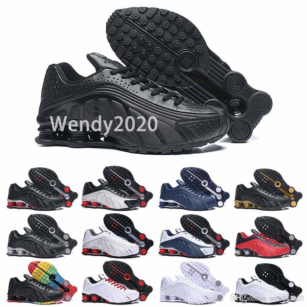 2020 erkek tasarımcı koşu ayakkabıları erkekler rahat hava yastığı deri siyah, mavi, beyaz, kırmızı altın chaussures eğitici zapatos spor ayakkabı 40-46