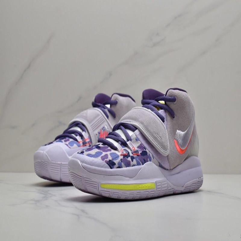 Kutu Erkekler Kadınlar Spor Ayakkabı Sneakers US4-US12 ile 2020 Yeni Varış Kyries 6 EP Asya Gri Mor Basketbol Ayakkabı
