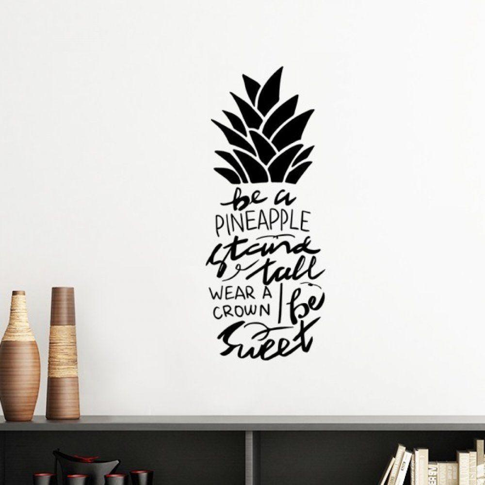 Bir Ananas Standı Uzun Boylu Tatlı Alıntı Siluet Çıkarılabilir Duvar Sticker Sanat Çıkartmaları Mural DIY Duvar Kağıdı Odası Çıkartması için