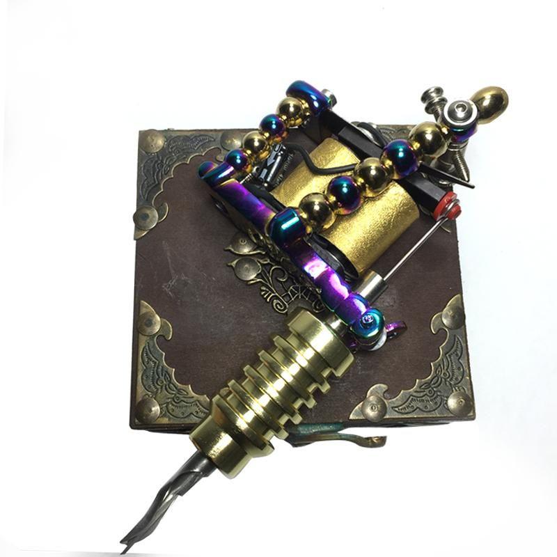 무료 배송 문신 기계 사용자 정의 손으로 만든 멀티 컬러 총 10 랩 코일 라이너 / 쉐이더 문신 총 공급