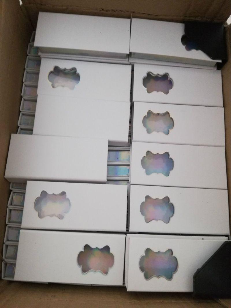 Wholesale 3D False Eyelashes Packaging Box White Cardboard Lashes Case Window Eyelash Packaging Box Empty Eyelash Case Custom Makeup Packing