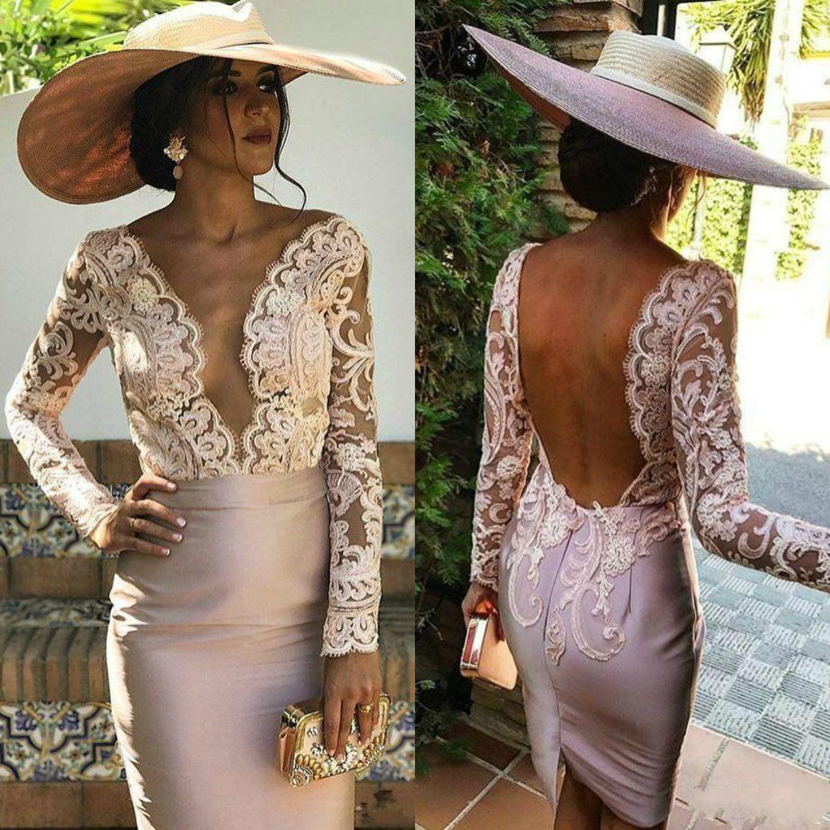 Blush Pink Elegant Mother Of The Bride Dresses For Wedding V Neck Long Sleeve Women Dress Lace Appliqued Plus Size Evening Gowns