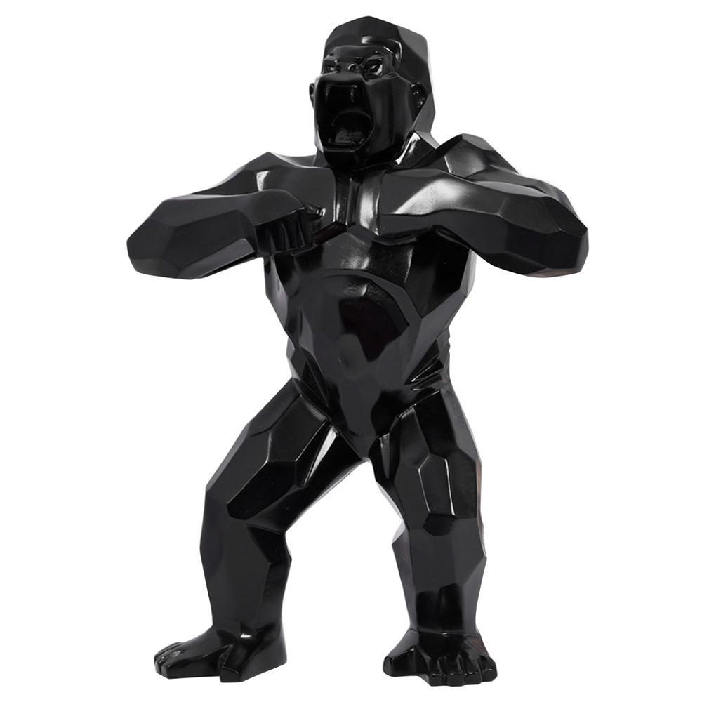 """32"""" Big arte Estatuas KingKong Animal del arte del arte del gorila esculturas creativas decoración de cumpleaños regalo de simulación figura de la resina de colección Mod"""