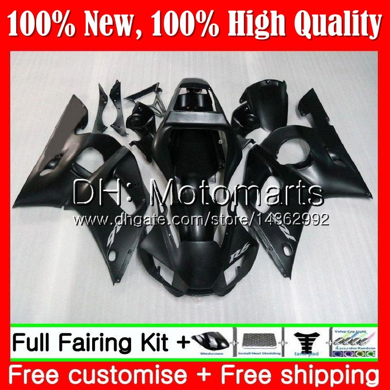 Kit para YAMAHA YZF R6 98 YZF600 YZFR6 98 99 00 01 02 88MT15 YZF 600 YZF-R600 YZF-R6 1998 1999 2000 2001 2002 Carenado Carrocería Mate negro