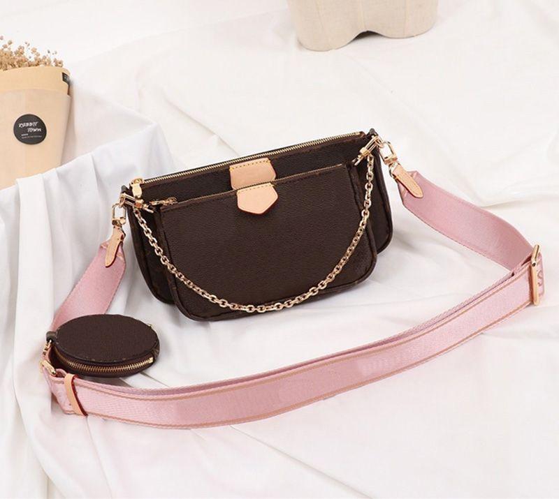 favoris épaule en cuir véritable sac à main accessoires de multi L pochette fleur dames sac à bandoulière sacs à main 3 pièces porte-monnaie