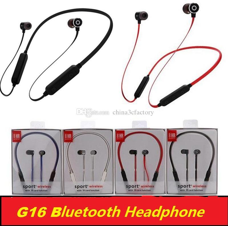 G16 беспроводные наушники магнитные Bluetooth наушники с микрофоном Sweatproof Спорт Bluetooth 4.2 гарнитура для телефона iPhone xiaomi