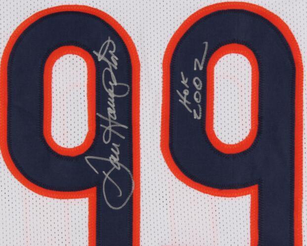 """Dan Hampton """"2002 HOF"""" yazıtlı İmza Jersey gömlek signaturer signatured Signed"""