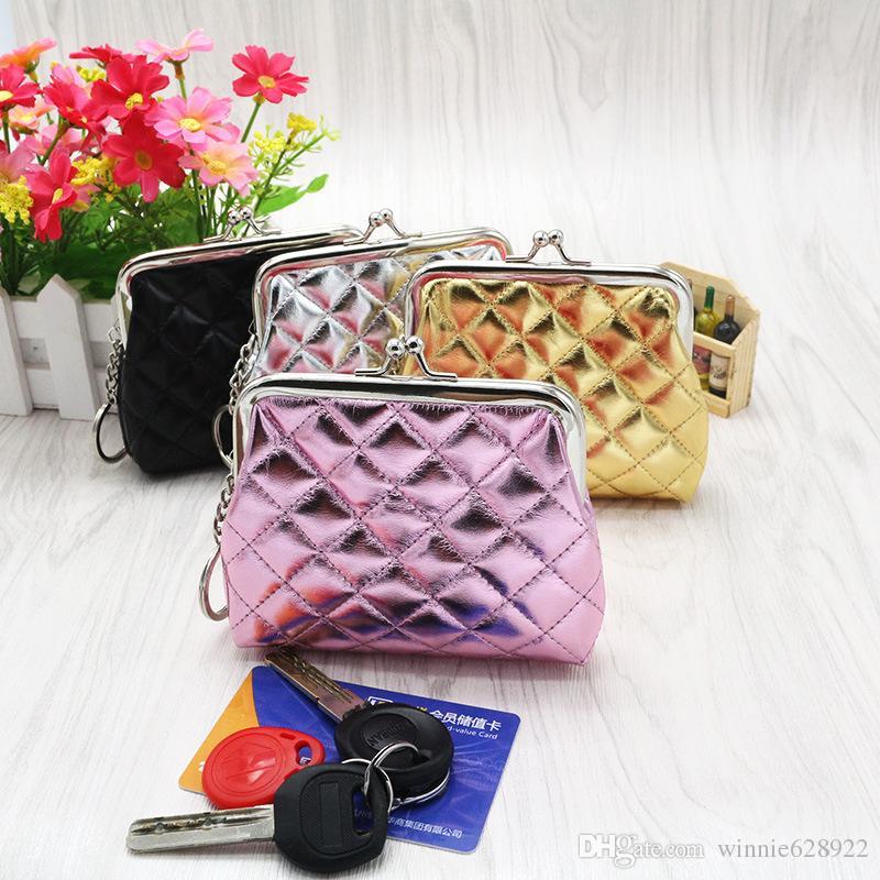 diamond quilt design Coin Purse women Short Wallet Creative Coin Bag Kindergarten Small Gifts Mini Coin purse with Key ring wholesale