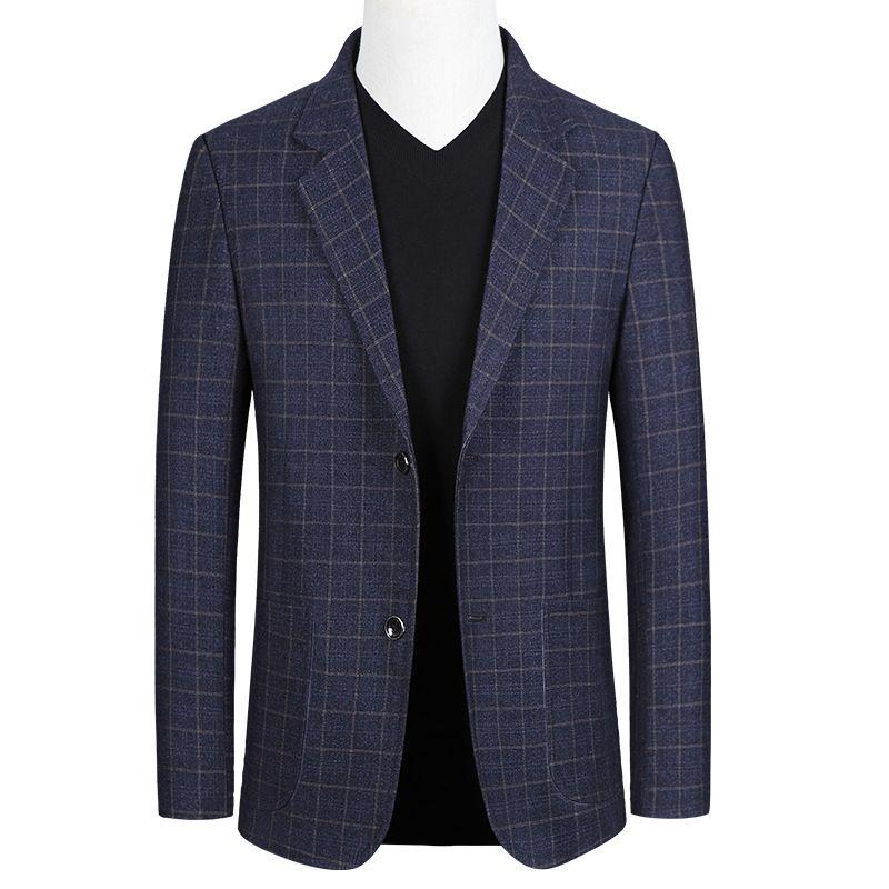 2019 весна и осень новый стиль свободного покроя среднего возраста мужчин небольшой костюм бизнес пальто один западный топы тонкий Fit тенденция куртка мужская