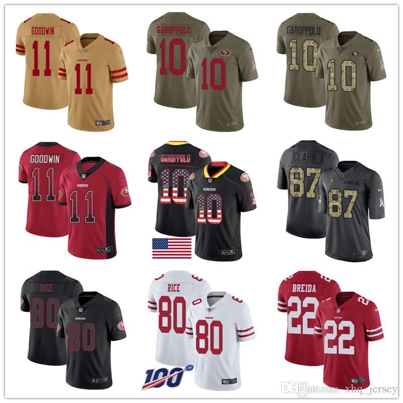 Jerseys Joe Montana, Jerry Rice Dwight Clark Jimmy Garoppolo Richard Sherman marquesa Mujeres San Francisco personalizada 49erss Hombres Fútbol Juvenil
