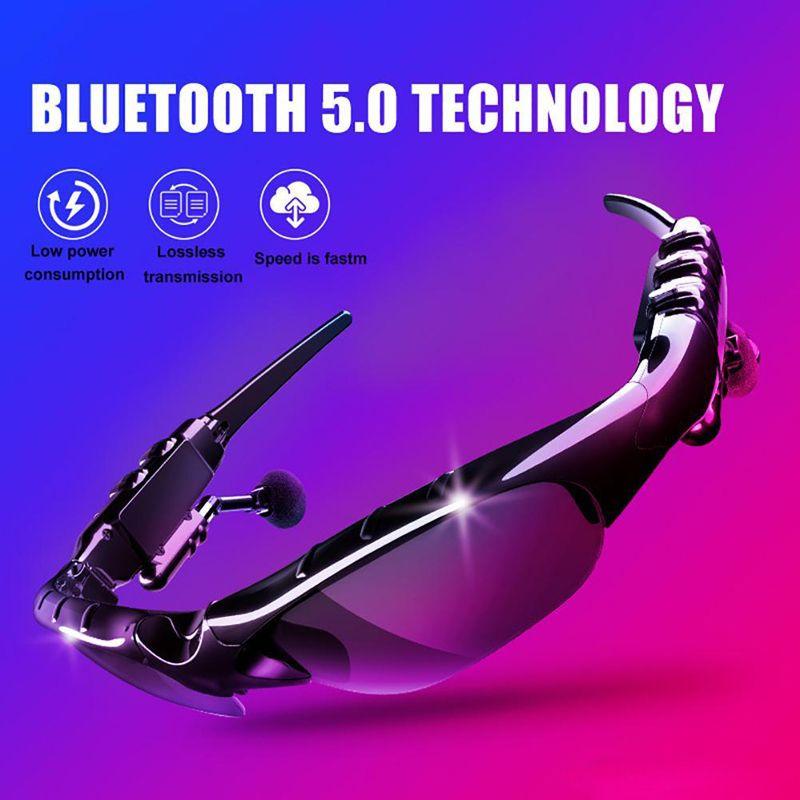 Casque écouteur plus récent X8S casque Bluetooth Lunettes de soleil mode 5,0 intelligent Lunettes avec microphone pour conduite / VTT Livraison gratuite