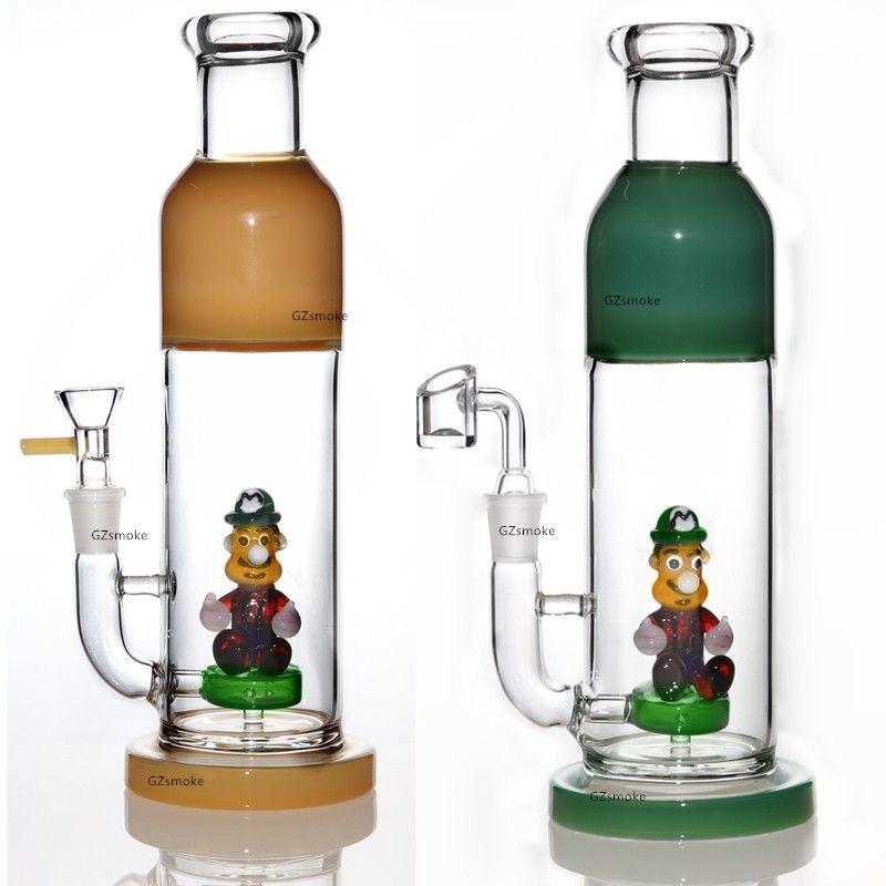 Drôle bong perc conduites d'eau en verre rig dab tubes de verre capiteux personnages de dessin animé à l'intérieur de plates-formes pétrolières de pétards quartz de cire fumeurs Bangs hookahs