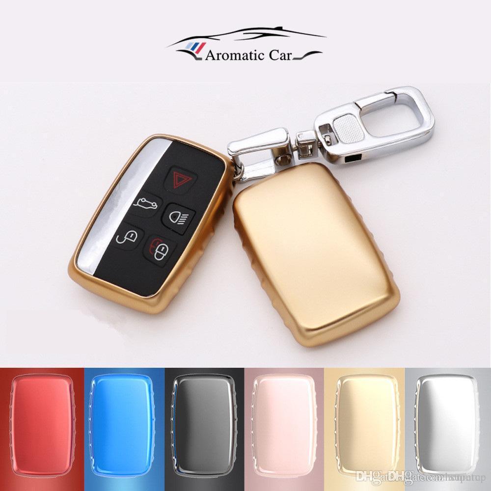 TPU-Auto-Schlüssel-Abdeckung Schlüssel Kasten-Beutel für Land Rover Range Rover Sport Freelander 2 DISCOVERY 4 Evoque Schlüsselanhänger Auto-Styling