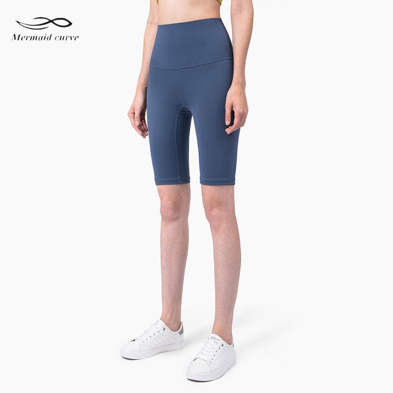 Denizkızı Eğrisi Yeni Süper Yüksek Bel Hatları Gym Spor Yoga Shorts utandırmak Spor Şort No Running Karın Kadınlar sıkın