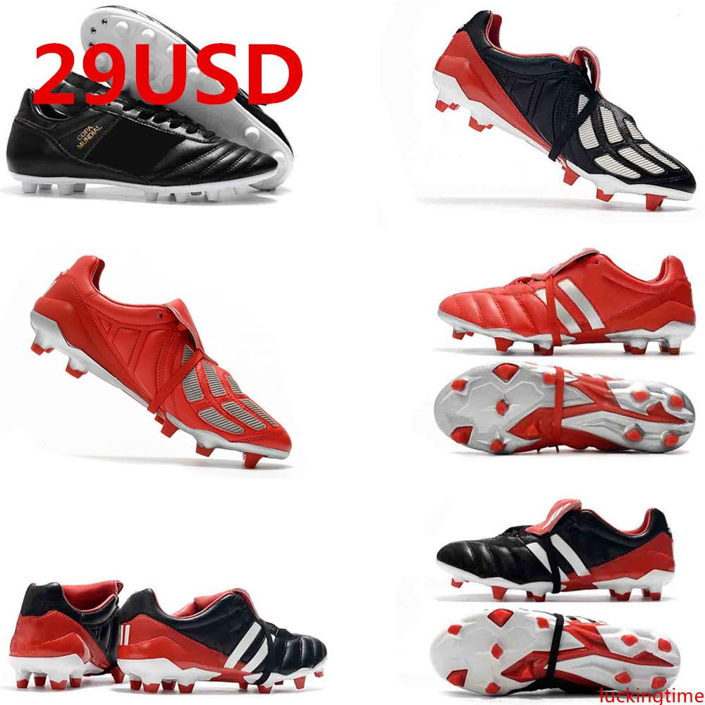 2020 Best Quality Leather Low Soccer Shoes Copa 17.1 FG Football Boots Mens Outdoor Copa Mundial Soccer Cleats 6th PREDATOR MANIA Champagne