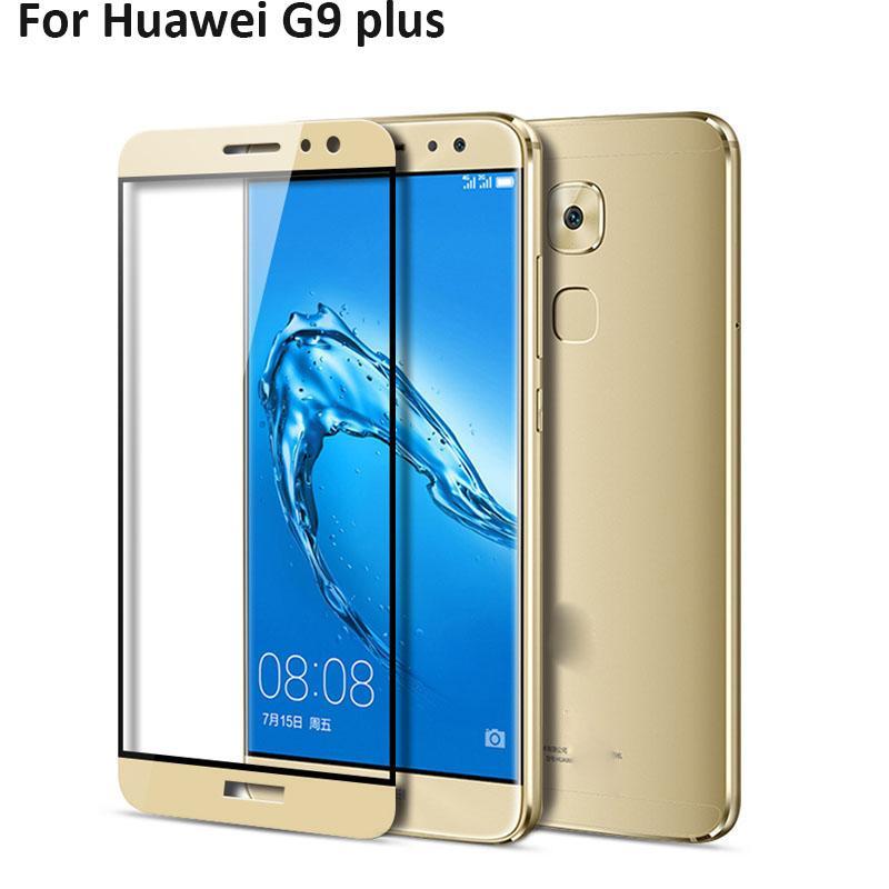 2 stücke ultradünne full screen protector gehärtetes glas für huawei g9 plus g 9 plus g9plus display schutz gehärtetem glas