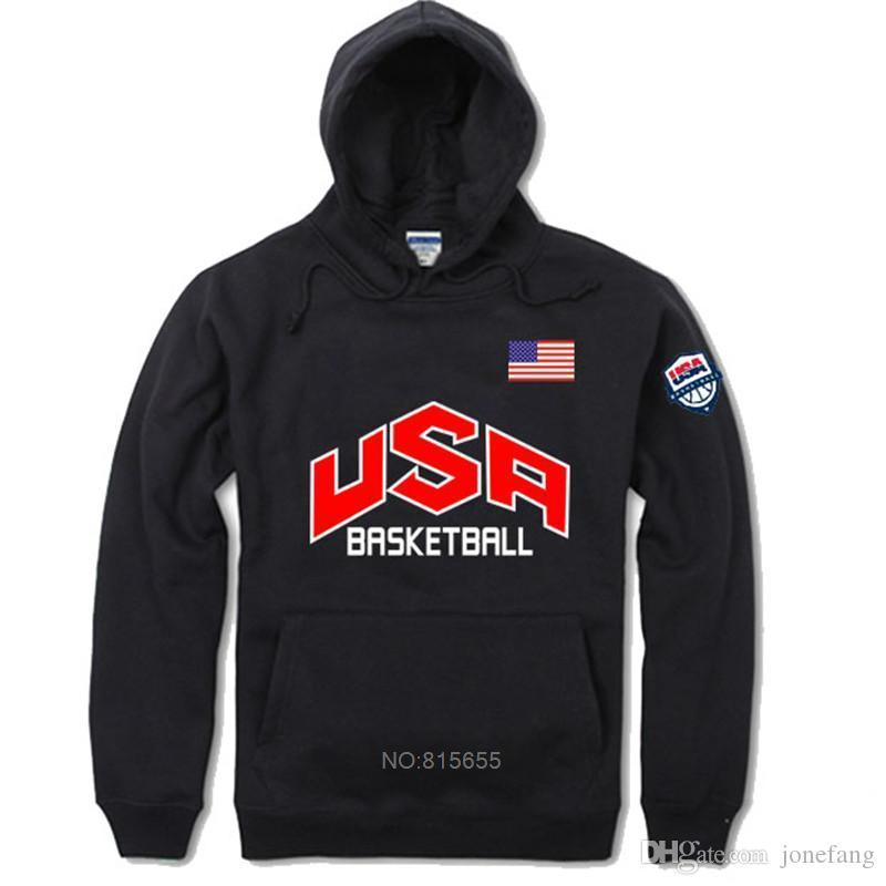 Hip Nueva Jersey EE.UU. equipo sudaderas con capucha otoño manera de los hombres Streetwear divertido Hop Fleece Negro gris con capucha de diseño