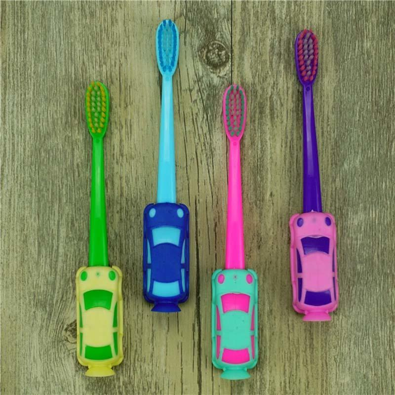 2Pcs Baby Boy Car Soft-bristled Toothbrush Smiling Car Tooth Cleaner Baby Kids Training Dental Care Child Teeth Brushes Set C18112601
