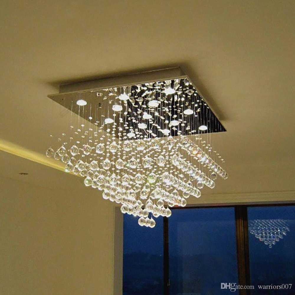 ساحة أدى بهو مصباح الإضاءة الحديثة الكريستال الثريا لغرفة المعيشة المطبخ الكروم الثريات سقف جودة عالية
