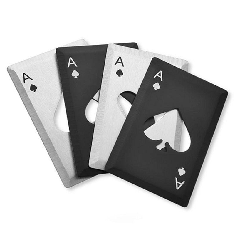 Покер карты открывалка из нержавеющей стали Пиво открывалки Бар Инструменты кредитной карты Сода бутылки пива открывалка Cap Подарки Кухонные инструменты