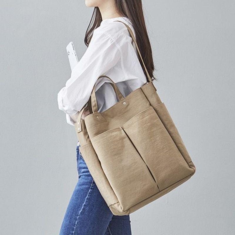 Mensajero Hombro Nylon Handbag 2019 Nuevas bolsas Bolsa de mujer Compras Casual Tote Crossbody Bag Hobos Female Fkoax