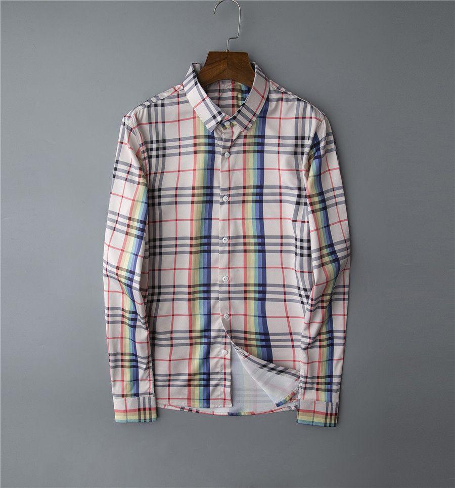 Nuovo stile europeo e americano del modello di colore del progettista della camicia di stampa camicia a quadri Medusa delle donne della camicia casuale degli uomini Slim