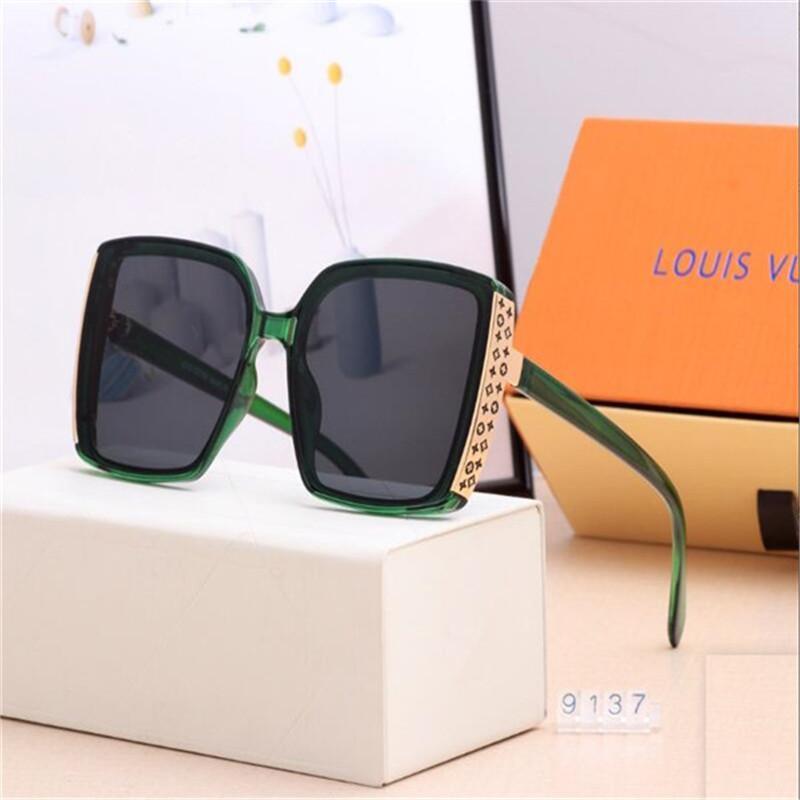 2020 vendita calda di disegno di marca degli occhiali da sole di marca Pilot Vintage Occhiali da sole UV400 banda Uomini Donne Ben metallo vetro Montatura Lente E4