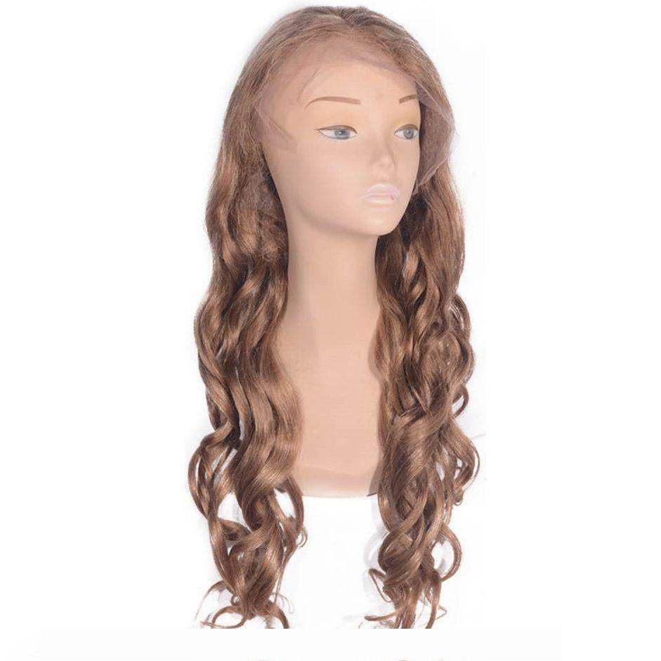 A Cambodian Human Hair Loose Wave Full Lace Wigs Lace Front Wigs Free Part 27# Hair for Black Women 6-26 inches