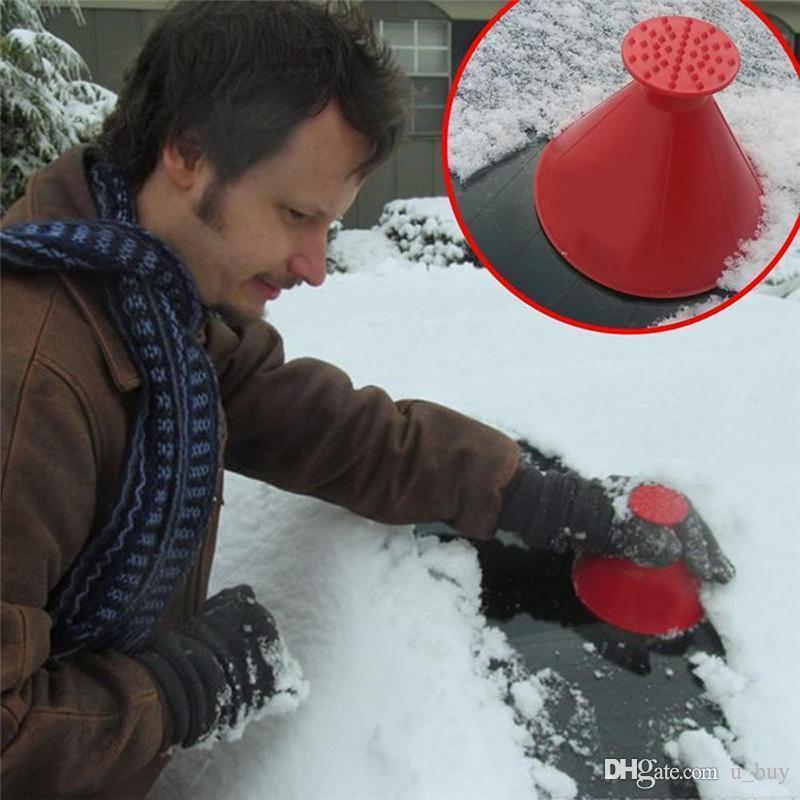 الزجاج الأمامي معجزة كشط جولة الجليد مكشطة سيارة الثلج مكشطة الجليد على شكل مخروط كاشطات بسيطة وسهلة للحصول على الثلج معطلة سيارتك