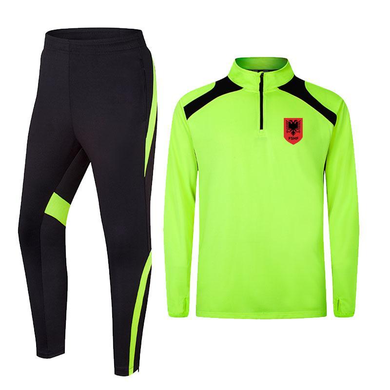 Албания 2020 весна и осень новая куртка футбольная тренировочная одежда долго может быть DIY custom мужская спортивная тренировочная одежда