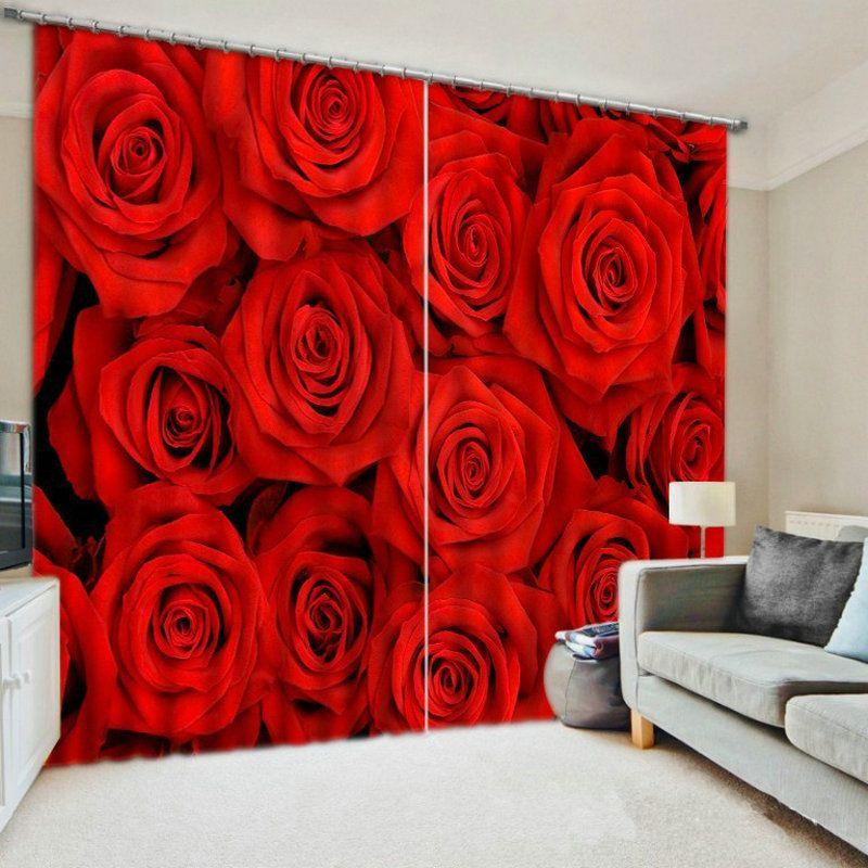 3D Печатный занавес для гостиной и спальни Кортинас Para Sala De Эстар Roses животных Продавец Панель Размер изображения Customizedl