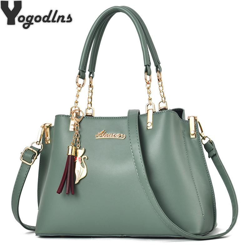 Women Tassel Casual Tote Elegant Ladies Handbag PU Leather Shoulder Bag Large Capacity Hand Bag Commuter Bag Female T200511
