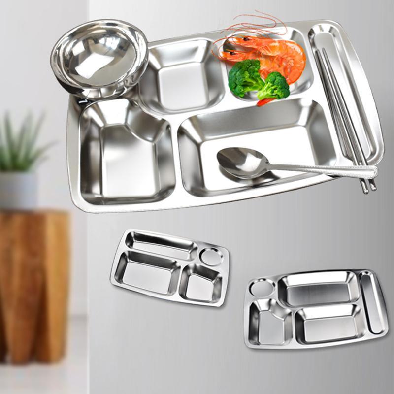 Personnaliser LOGO de qualité alimentaire Divided Plate Arts de la table pour Cantine scolaire Fast Factory Food Shop Plate Plateau Vaisselle