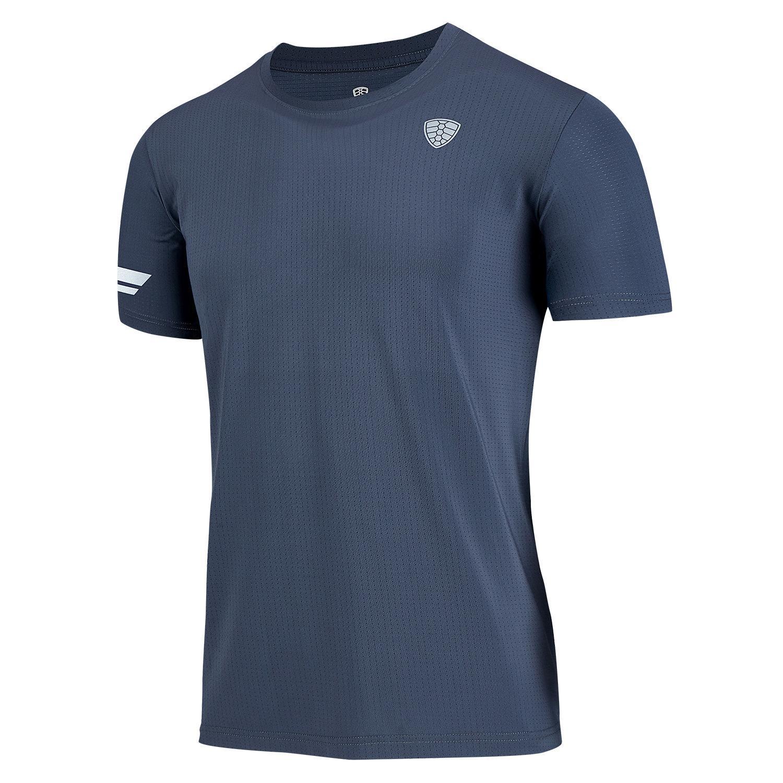 La migliore vendita Running T Shirt Uomo Gym T-shirt poliestere traspirante Dry Fit Sport Nuovo Quick Dry Basket Calcio Fitness allenamento Marchio Tee