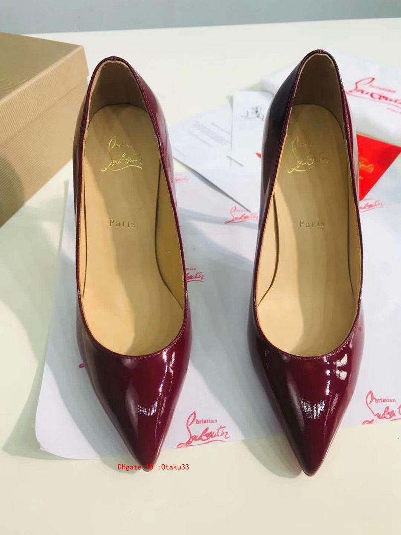 мода 2019 мода свадебных платьев повелительниц обувь продажа для женщин Красного высоких каблуков