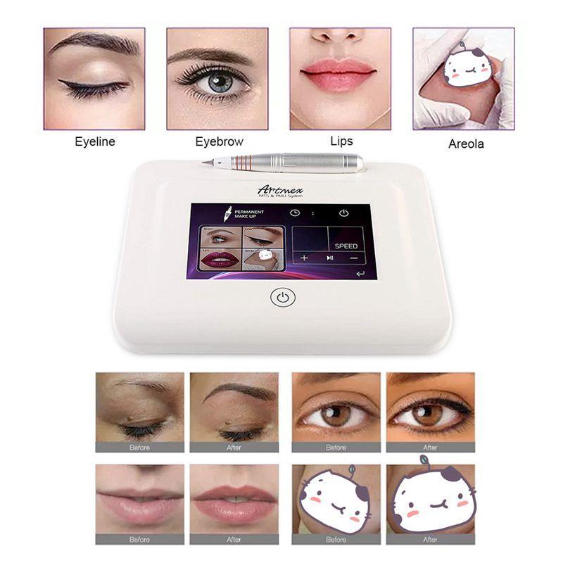 El más nuevo maquillaje Artmex V11 Permanente de maquillaje digital labio de la ceja Eyeline MTS PMU digital permanente profesional del tatuaje de la máquina de la pluma de Rotary
